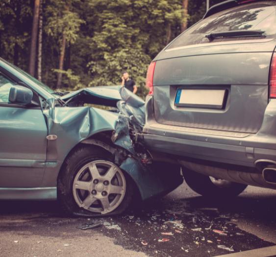 Car wreck caused by improper lane change